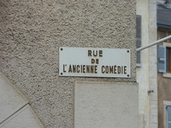 Rue de l'Ancienne Comédie, Semur-en-Auxois - road sign - Photo of Athie