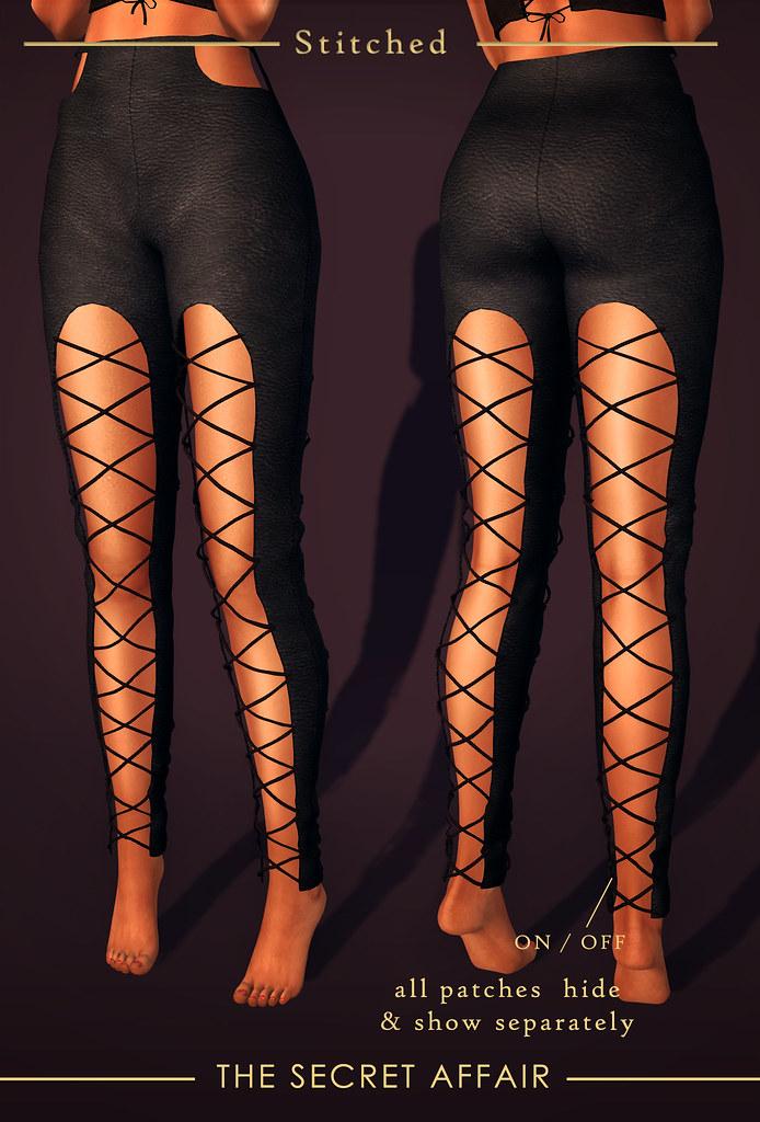 Patched Leggings @ The Secret Affair  - Bordello Anniversary Round! - SecondLifeHub.com