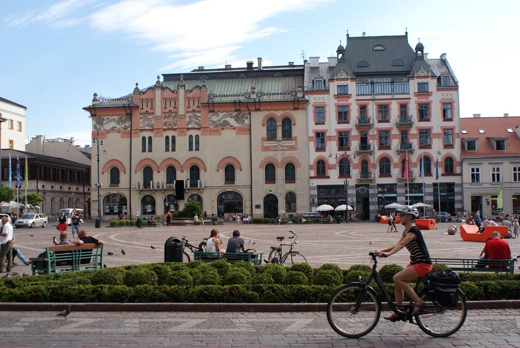 Immeubles art nouveau du Vieux Cracovie.