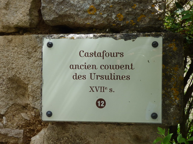 Photo of Castafours ancien convent des Ursulines clear plaque