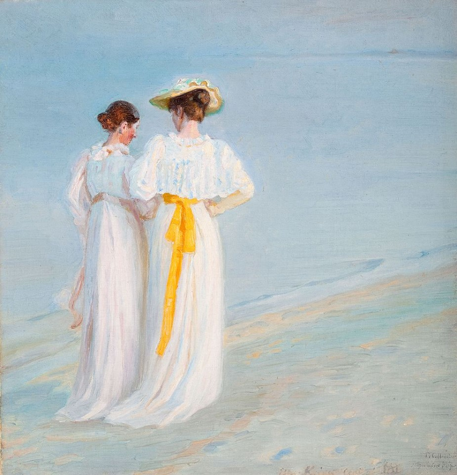 Summer evening on the south Beach of Skagen by Peder Severin Krøyer, 1897