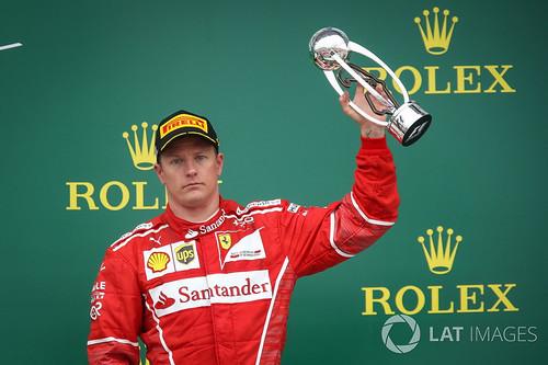 Räikkönen iloisena 25.7.