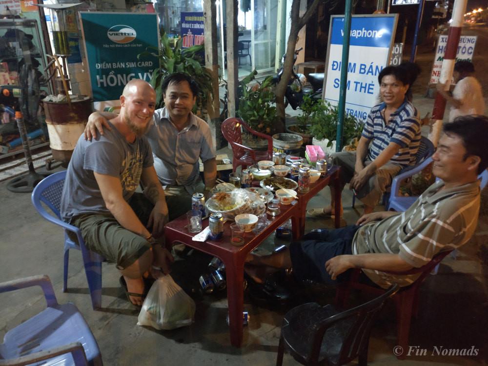 drinking beer Vietnam