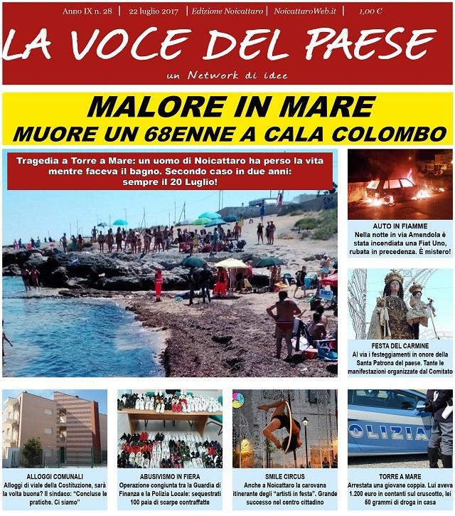 Noicattaro. Prima pagina n. 28-2017 intero