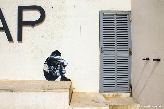 Street art vicino al centro informazioni