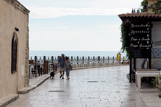 Beach docks in Vieste, Italy