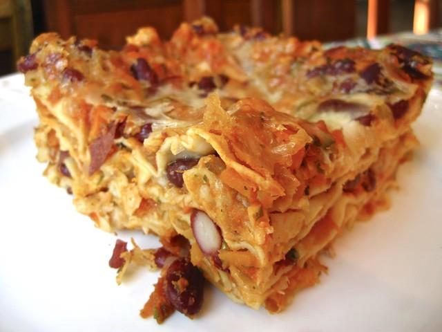 Lasagna con fagioli