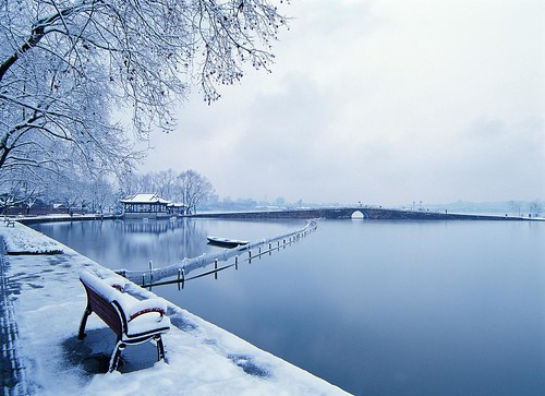 Broken Bridge in Snow. From Visiting Marco Polo's Favorite City in China