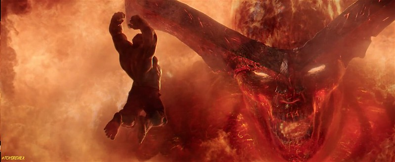 Thor Ragnarok Trailer 2 Screengrab  Hulk vs Sutur
