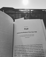 I've been getting up earlier to make time for reading. What a perfect place to start this morning...PLAY. #WhatImReading #Essentialism