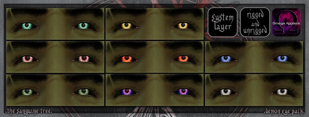 [ new release – demon eye pack ] - SecondLifeHub.com