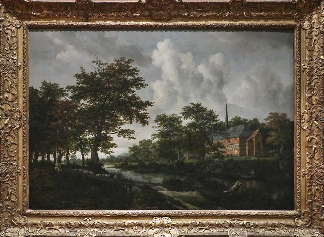 Church in a River Landscape, Jacob van Ruisdael, Holland, mid 1660's