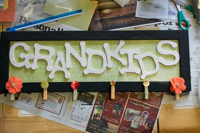 DIY Grandkids sign