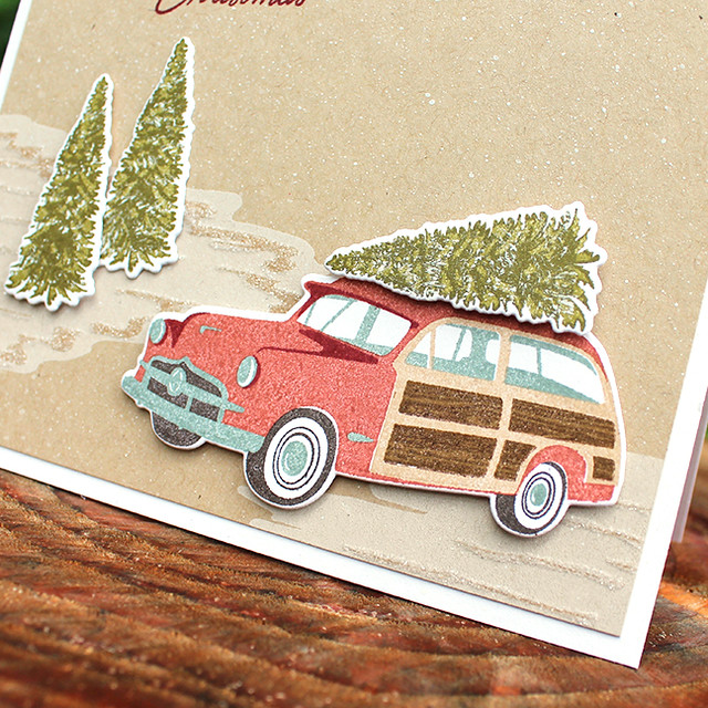 Merry Christmas Station Wagon Card 3