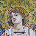 Face of an angel - detail of a mosaic for the mausoleum of Louis Pasteur