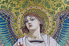 Face of an angel - detail of a mosaic for the mausoleum of Louis Pasteur by Monceau