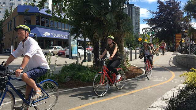 Urban cycling in Vancouver