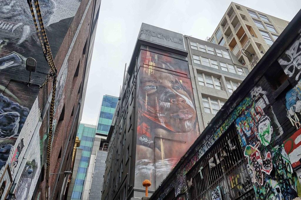 Melbourne - Street Art - Aborigene 2
