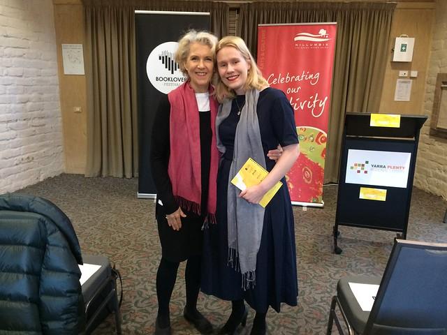 Karen with Debra Lawrance