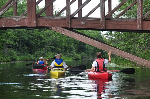 Kayaking down Bon Echo Creek
