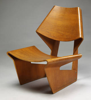 Moulded plywood chair, designed by Grete Jalk, 1963