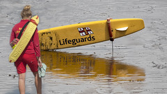 Lifeguard and Surfboard in Withernsea.