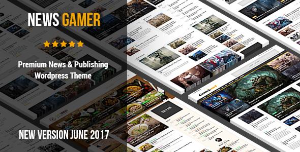 News Gamer v2.2 – Premium WordPress News / Publishing Theme