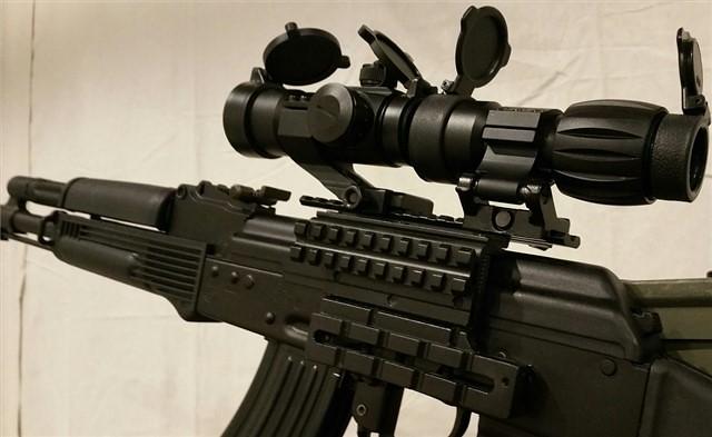 ak47 mount 3x magnifier & red dot3