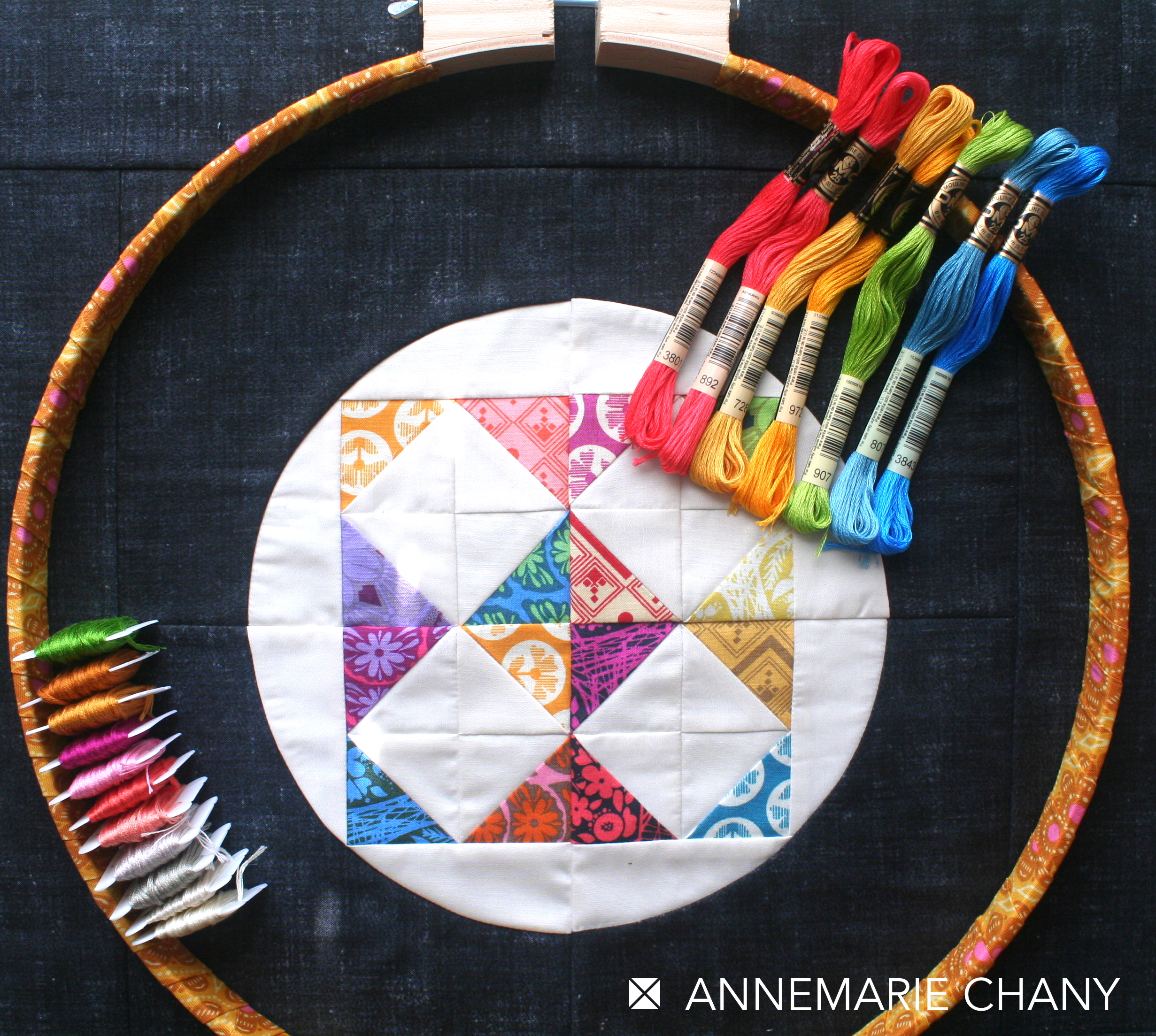 Hoop Quilt Ready to Embellish Pattern by AnneMarie Chany