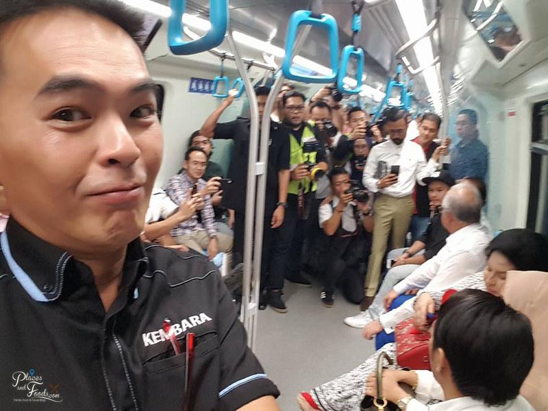 MRT Merdeka Station inside train