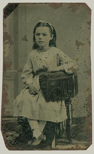 Tintype of small girl
