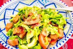 Jalape�o Spam and streaky bacon salad
