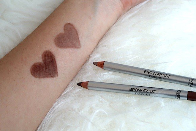 Swatches of L'Oreal Brow Artist Designer