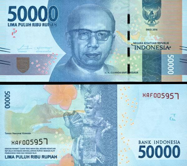 50 000 Rupií Indonézia 2016, P159a