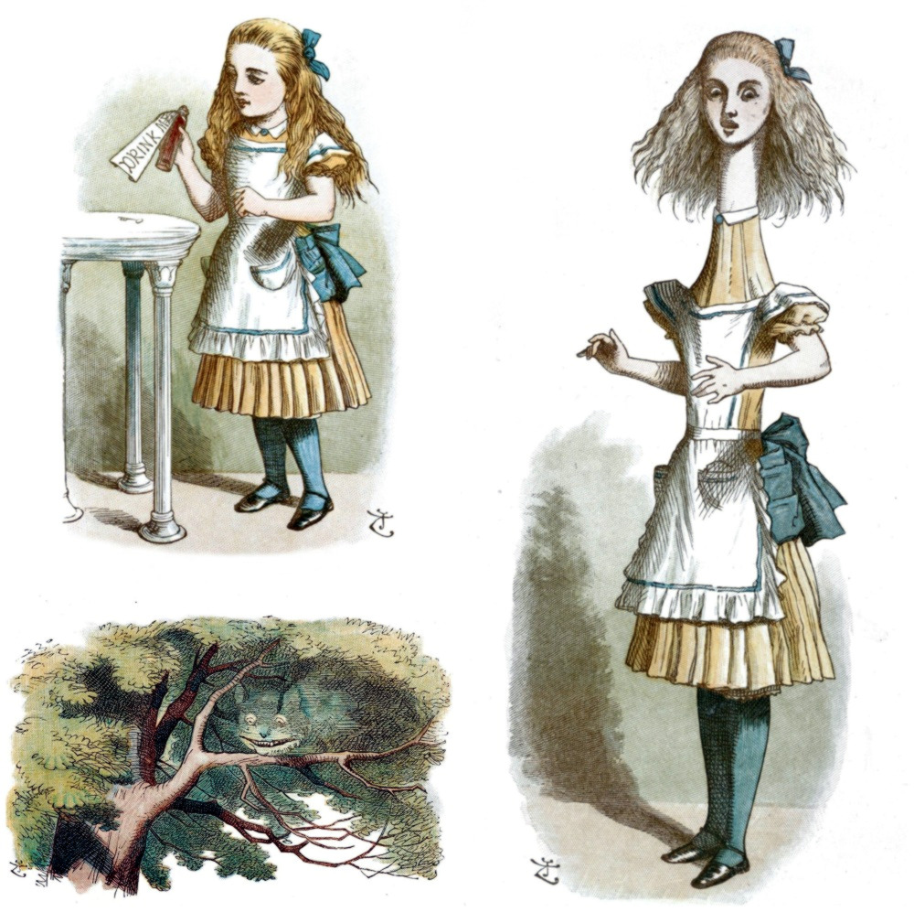 Alice in Wonderland illustrations by John Tenniel, 1890