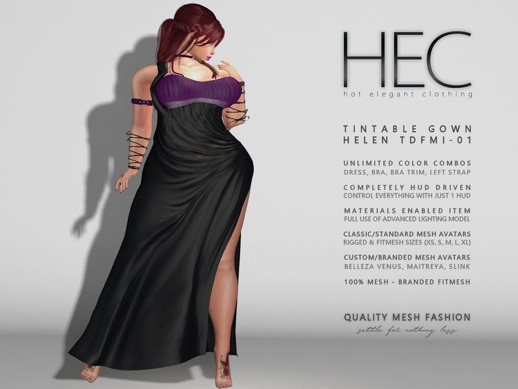HEC - PROMO HELEN GOWN TFDMI - SecondLifeHub.com