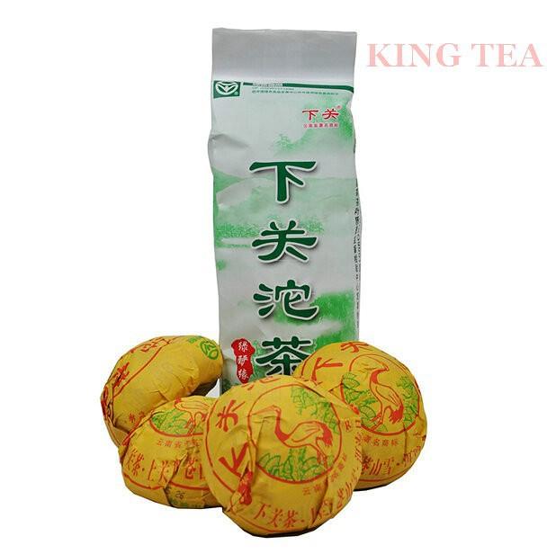 Free Shipping 2014 XiaGuan LvYanYuan Tuo Bowl 100g YunNan MengHai Organic Pu'er Raw Tea Weight Loss Slim Beauty Sheng Cha