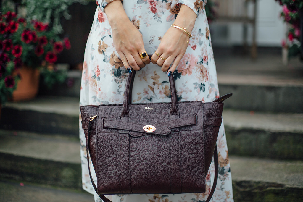 The Little Magpie Mulberry Zipped Bayswater Bag