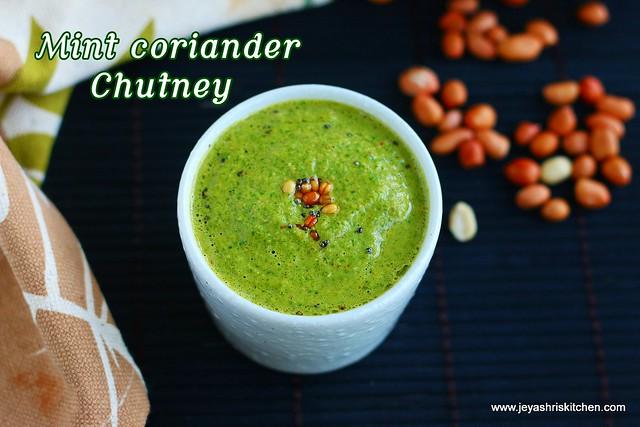 Mint coriander chutney
