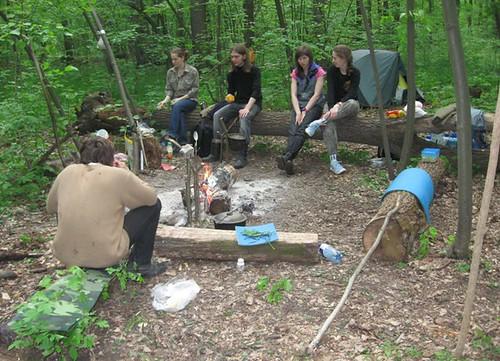 Полевой лагерь по изучению рукокрылых в Лесопарке