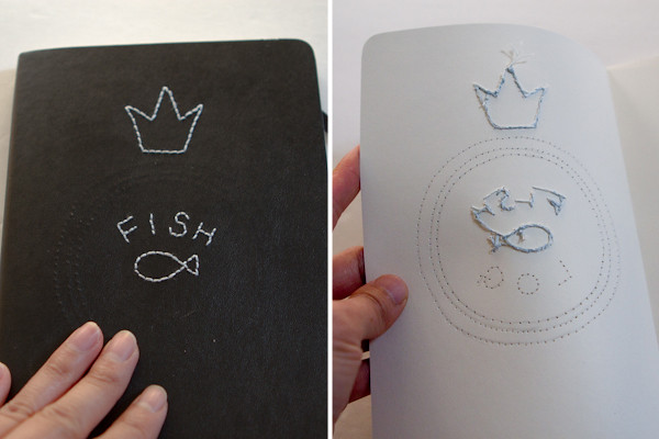 Moleskine Fish Log: front and back