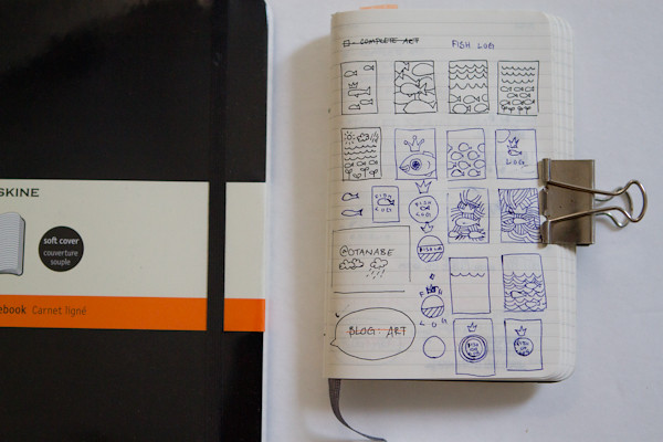 Moleskine Fish Log: concept 2