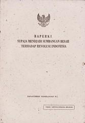BAPERKI Supaja Mendjadi Sumbangan Besar Terhadap Revolusi Indonesia oleh Sukarno