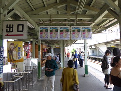 秩父市の商店会が展開する「あの花」フラッグ