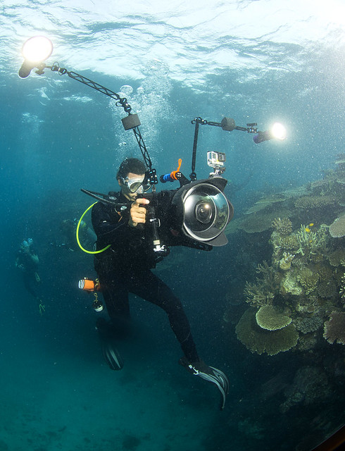 photo of underwater filming