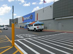 Reverse angle view of the recent Bartlett Walmart grand reopening