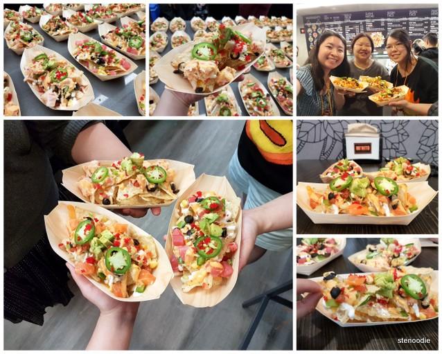 Sushi nachos photoshoot