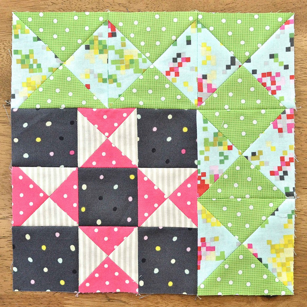 The Fussy Cut Sampler Block # 36
