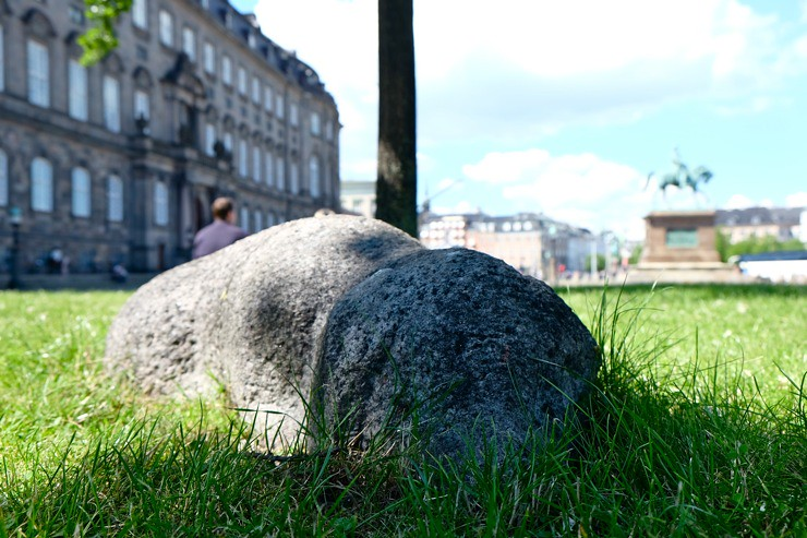 Resting pig on Christiansborg Slotsplads