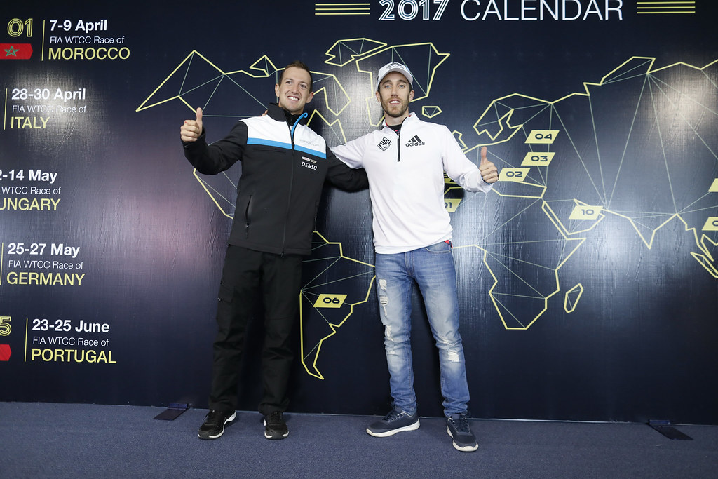 GIROLAMI Nestor (arg) Volvo S60 Polestar team Polestar Cyan Racing ambiance portrait GUERRIERI Esteban (arg) Chevrolet RML Cruze team Campos racing ambiance portrait during the 2017 FIA WTCC World Touring Car Race of Argentina at Termas de Rio Hondo, Argentina on july 14 to 16 - Photo Francois Flamand / DPPI